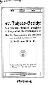 Jahres-Bericht des Frauen-Erwerb-Vereines in Klagenfurt