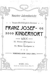 Jahresbericht des Frauen-Wohltätigkeits-Vereines Franz Josef-Kinderhort Wien