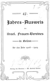 Jahres-Ausweis des israel. Frauen-Vereines in Brünn
