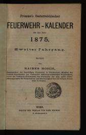 Fromme's Österreichischer Feuerwehr-Kalender