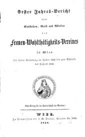 Jahresbericht des Frauen-Wohlthätigkeits-Vereines für Wien und Umgebung