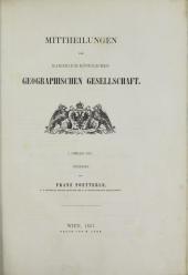 Mittheilungen der kaiserlich-königlichen Geographischen Gesellschaft