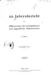 Jahresbericht des Hilfsvereines für Lehrmädchen und jugendliche Arbeiterinnen in Wien
