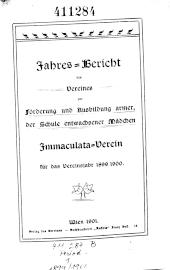 Jahresbericht des Immaculata-Vereines