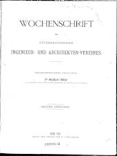 Wochenschrift des österreichischen Ingenieur- und Architektenvereins
