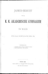 Jahresbericht Akademisches Gymnasium Wien