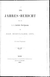 Jahresbericht des Josefstädter Gymnasiums in Wien
