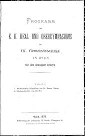 Jahresbericht des k.k. Maximiliangymnasiums in Wien