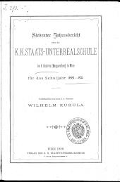 Jahresbericht Staats-Unterrealschule Margarethen