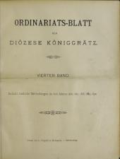Ordinariatsblatt der Königgrätzer Diözese