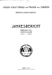 Jahresbericht Verein Kunstschule für Frauen und Mädchen