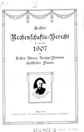 Rechenschaftsbericht des Ersten Wiener Kneipp-Vereines christlicher Frauen