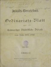 Ordinariatsblatt der Leitmeritzer  Bischöflichen Diözese