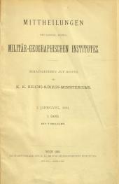 Mittheilungen des kais. königl. Militär-Geographischen Institutes