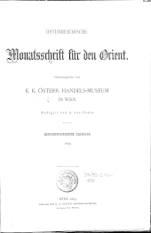 Österreichische Monatsschrift für den Orient