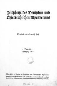 Zeitschrift des deutschen und österreichischen Alpenvereins