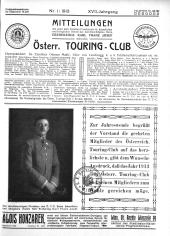 Club-Organ des Oesterreichischen Touring-Club