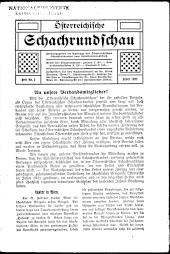 Österreichische Schachrundschau