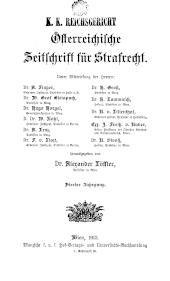 Österreichische Zeitschrift für Strafrecht