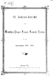 Jahresbericht des deutschen Prager Frauen-Erwerb-Vereins