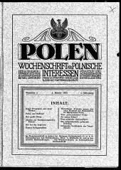 Polen. Wochenschrift für polnische Interessen.
