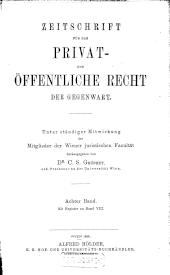 Zeitschrift für das Privat- und Öffentliche Recht der Gegenwart