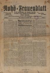 Reichsorganisation der Hausfrauen Österreichs Rohö-Frauenblatt