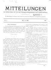 Mitteilungen des Reichsvereines der Post- und Telegraphenmanipulantinnen