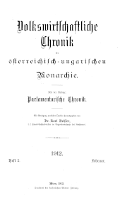 Volkswirtschaftliche Chronik der österreichisch-ungarischen Monarchie