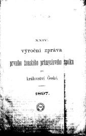 Jahresbericht des Ersten Frauen-Industrie-Vereines für das Königreich Böhmen / Vyrocni Zprava Proniho zenskeho