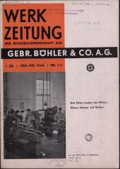 Werkzeitung der Gebrüder Böhler & Co. A.G.