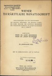 Wiener Tierärztliche Monatsschrift