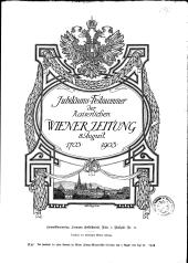 Jubiläumsnummer der Wiener Zeitung 1703-1903
