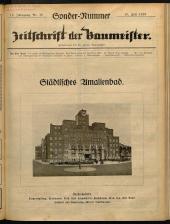 Zeitschrift der Baumeister Oesterreichs