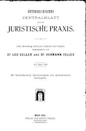 Österreichisches Zentralblatt für die juristische Praxis