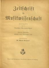 Zeitschrift für Musikwissenschaft