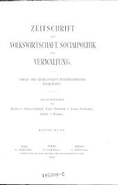 Zeitschrift für Volkswirtschaft, Sozialpolitik und Verwaltung