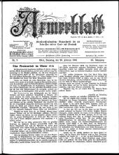 Armeeblatt: militär-wissenschaftliche Wochenschrift für die Interessen unserer Land- und Seemacht