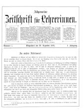 Allgemeine Zeitschrift für Lehrerinnen