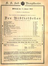 Theaterzettel Burgtheater (tit. fict.)