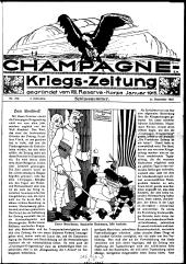 Champagne Kriegs-Zeitung. Kriegszeitung des 8. Reservekorps.