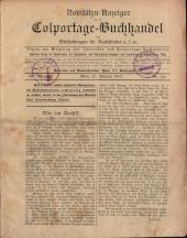 Novitäten Anzeiger für den Colportage-Buchhandel nebst Mittheilungen für Buchbinder u.s.w.