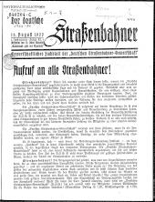 Der deutsche Straßenbahner