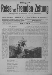 Dillingers Reise- und Fremden-Zeitung : unabhängiges Organ für internationalen Reise und Fremdenverkehr, 1898-09-10
