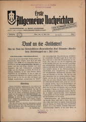 Erste Allgemeine Nachrichten