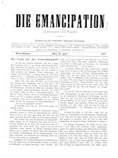 Die Emancipation. Zeitschrift für Frauen
