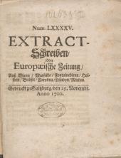 Extract-Schreiben oder Europaeische Zeitung