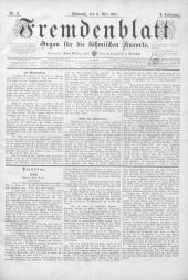 Fremdenblatt: Organ für die böhmischen Kurorte, 1885-05-06