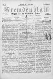Fremdenblatt: Organ für die böhmischen Kurorte, 1888-06-17