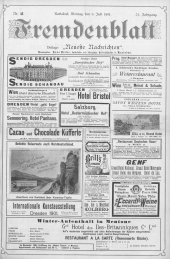 Fremdenblatt: Organ für die böhmischen Kurorte, 1901-07-08